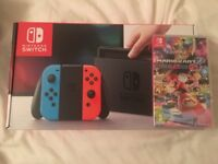 BRAND NEW Nintendo Switch Console & Mario Kart 8 Deluxe SEALED