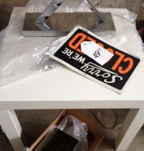 BRAND NEW MULTI USE WHITE BASIC TABLE$10/WALL PAINTINGS $20 EACH