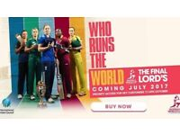 2 Tix for Women's World Cup Finals Tickets England V India @ Lords 23.07.2017