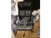 black office chair, used