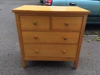 Oak looking chest of dreawes free delivery local