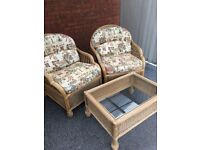 Cane Conservatory Furniture...2 Chairs and Coffee Table