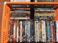 Large box of DVDs about 80