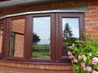MUST GO .....Double glazed rosewood bay window