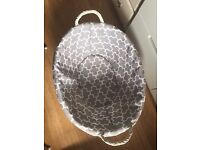 Wicker basket, small and prettily lined