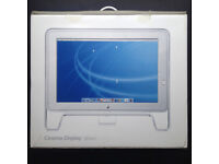 """MINT! Vintage 2003 APPLE Cinema Display 20"""" LCD monitor 1680×1050 widescreen + ADC Connector + box"""