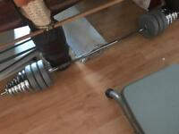 Barbell and weights 50kg