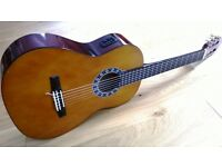 Valencia Electro-Acoustic Classical Guitar CG1K/NT Full Size with Case