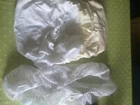 5x Fitted Moses basket / pram sheets & cat net