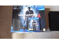 PS4 UNCHARTED SLIM NEW MODEL MINT CONDITION