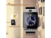bluetooth smart watch camera with sim and memory card slot new
