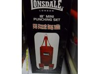"Lonsdale 18"" mini punch bag set"