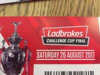 Challenge Cup Final Tickets x 2