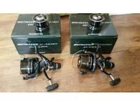 2 Shimano X Aero 8000 RA Baitrunners fishing reels