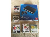 PS3 and 5 games.