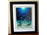 """limited edition(450) Serio-Lithograph print by Wyland entitled """"Dolphin Heaven"""""""