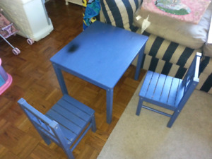 Paintable kids table chairs