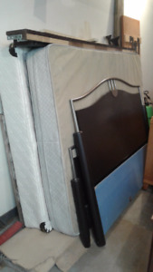 Queen Mattress, Box spring, and bed frame