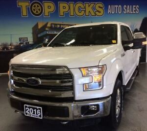 2016 Ford F-150 LARIAT CHROME, CREW, 4X4, LEATHER, NAVI, AND MOR