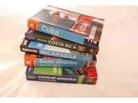 Selling five guide books for Central and South America.