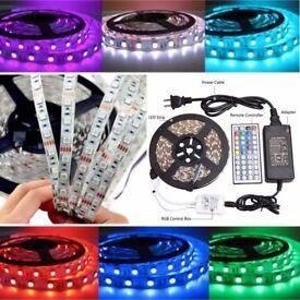 Non-Waterproof 5M 5050 RGB LED SMD 300 LEDS Strip Light Full Kit Party Wedding