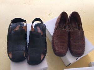 various shoes and sandles, $15 each