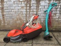 Flymo Lawnmower & Bosch Trimmer (£20 each or £40 both)