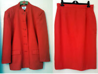 VYELLA BURNT ORANGE JACKET & SKIRT SUIT