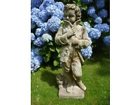 Large Fantastic Vintage Cast Stone Young Man in Coat Garden Statue 74cm Tall