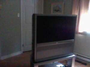 AKAI 42-Inch HD TV and Stand for Sale