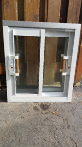 3 NEW Metal Frame Basement Windows, 30 in H x 26 in W