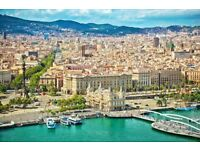 2 return flight tickets London - Barcelona 25.AUG - 28.AUG