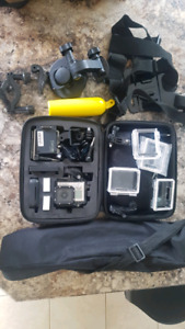 GOPRO HERO 3 WITH CASE AND MANY ACCESSORIES