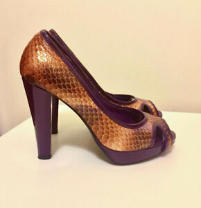 Brand New Real Python & Leather Women's Pumps in Size 6