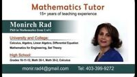 Math for grades 10-12,  Math 30-1, 30-2, College and University