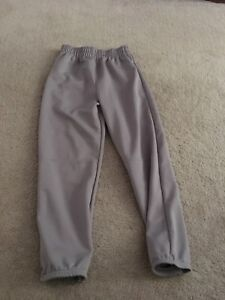 Kids Medium Grey Baseball Pants