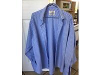 Three Van Heusen double cuff shirts