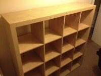 Ikea original thick frame Expedit (not Kallax) 4 x 4 vinyl records storage unit in birch effect