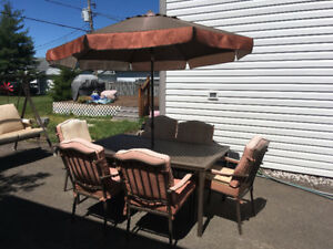 Swing Set & Patio Set (Table w/ 6 chairs)