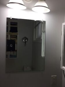 """Beveled Mirror 18"""" x 24"""" with mounting clips"""