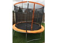 10ft Trampoline 1 week old with folding sides