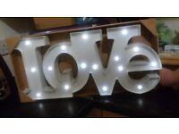 Light up love sign new