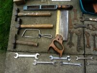 Selection of old hand tools