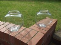 2 large Glass cookie jars