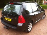 2003 PEUGEOT 307 SW 2.0 HDi TURBO DIESEL ESTATE WITH TOW BAR**11 MONTHS MOT**