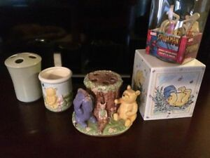 Classic pooh and pooh bathroom items