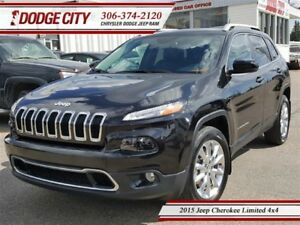 2015 Jeep Cherokee Limited | 4x4 | PST PAID
