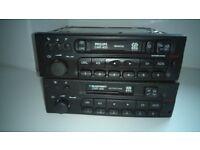 two retro car radio cassetes