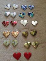 Wedding - folded origami hearts