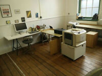 Large Desk Space in Creative Studio